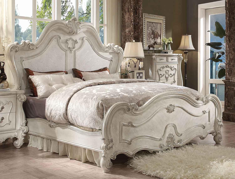 Acme Versailles Bed - Bone White