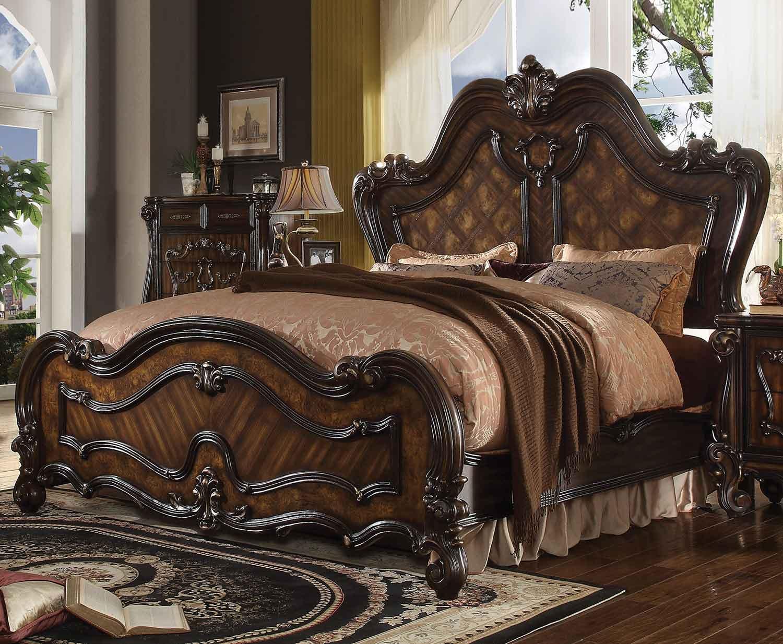 Acme Versailles Bed - Cherry Oak