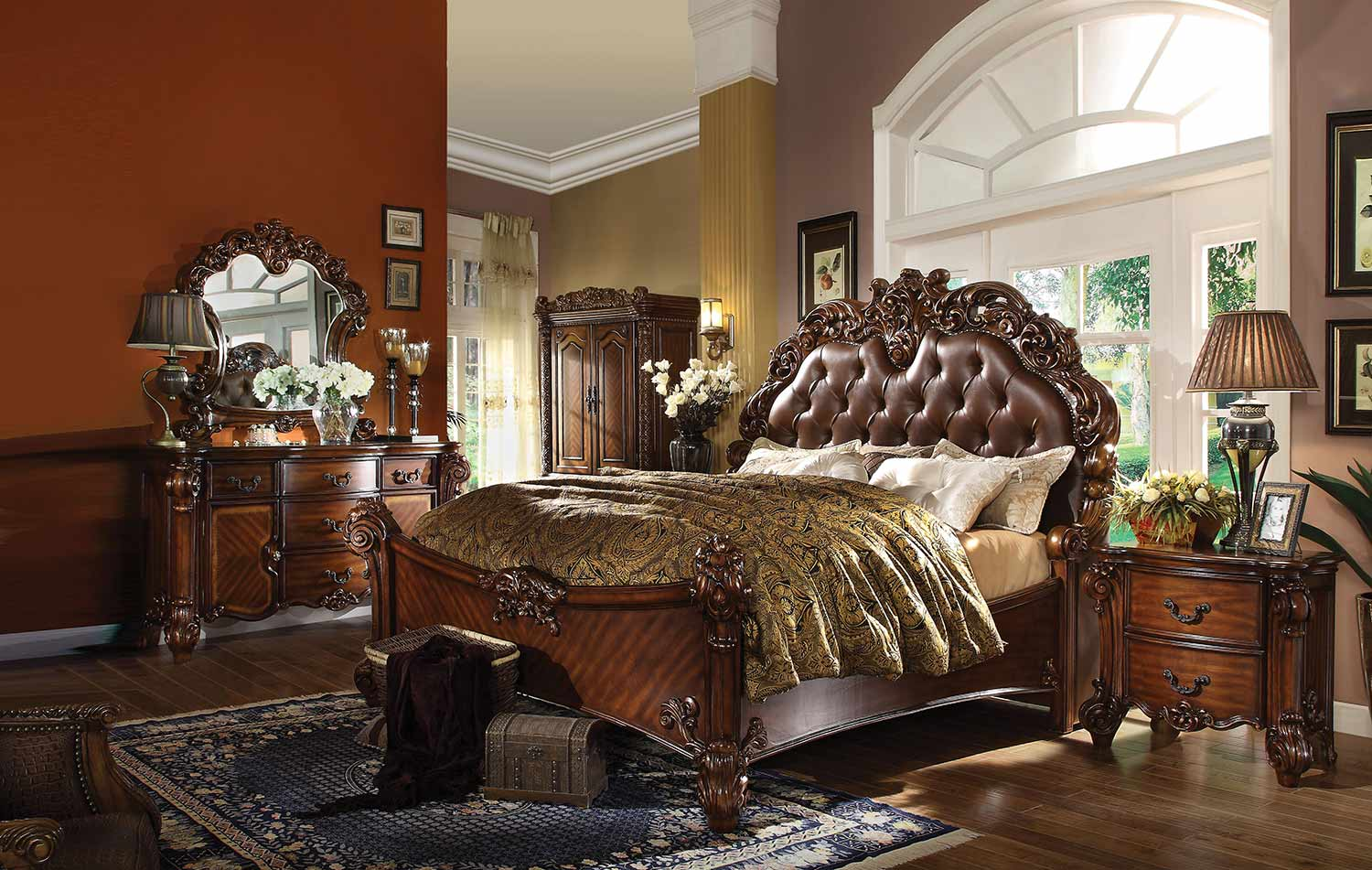 Acme Vendome Bedroom Set - Vinyl Cherry