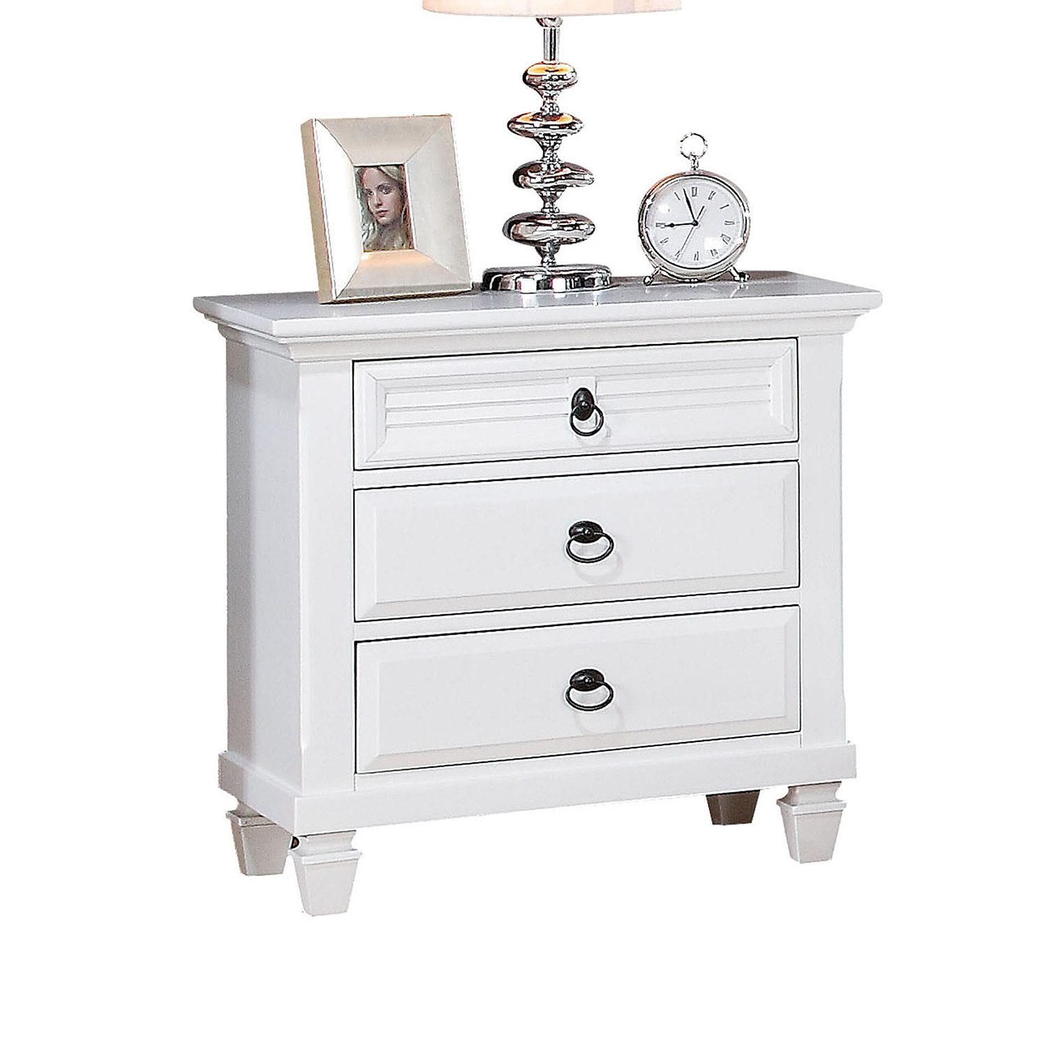 Acme Merivale Nightstand - White