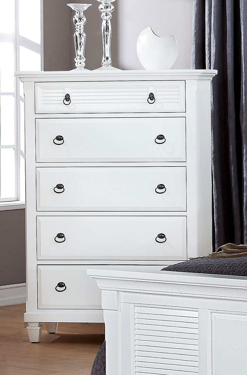 Acme Merivale Chest - White