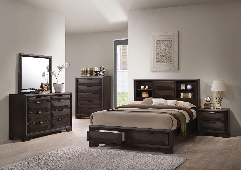 Acme Merveille Bedroom Set with Storage - Espresso
