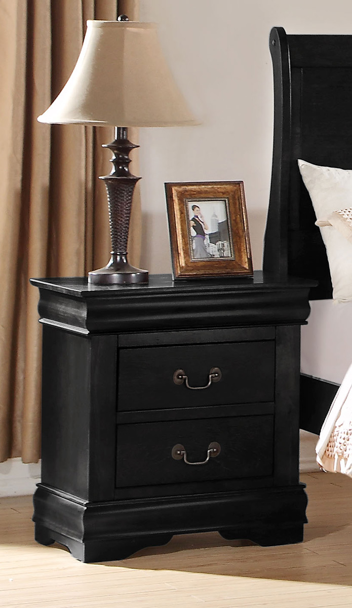 Acme Louis Philippe Nightstand - Black