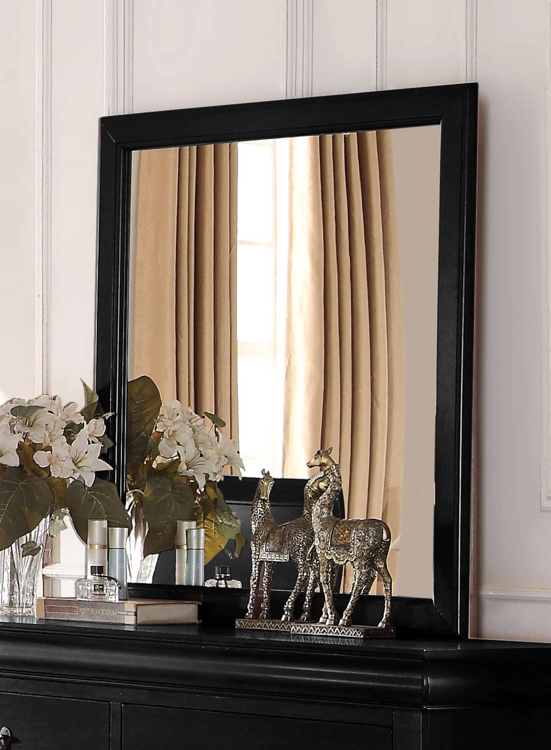 Acme Louis Philippe Mirror - Black