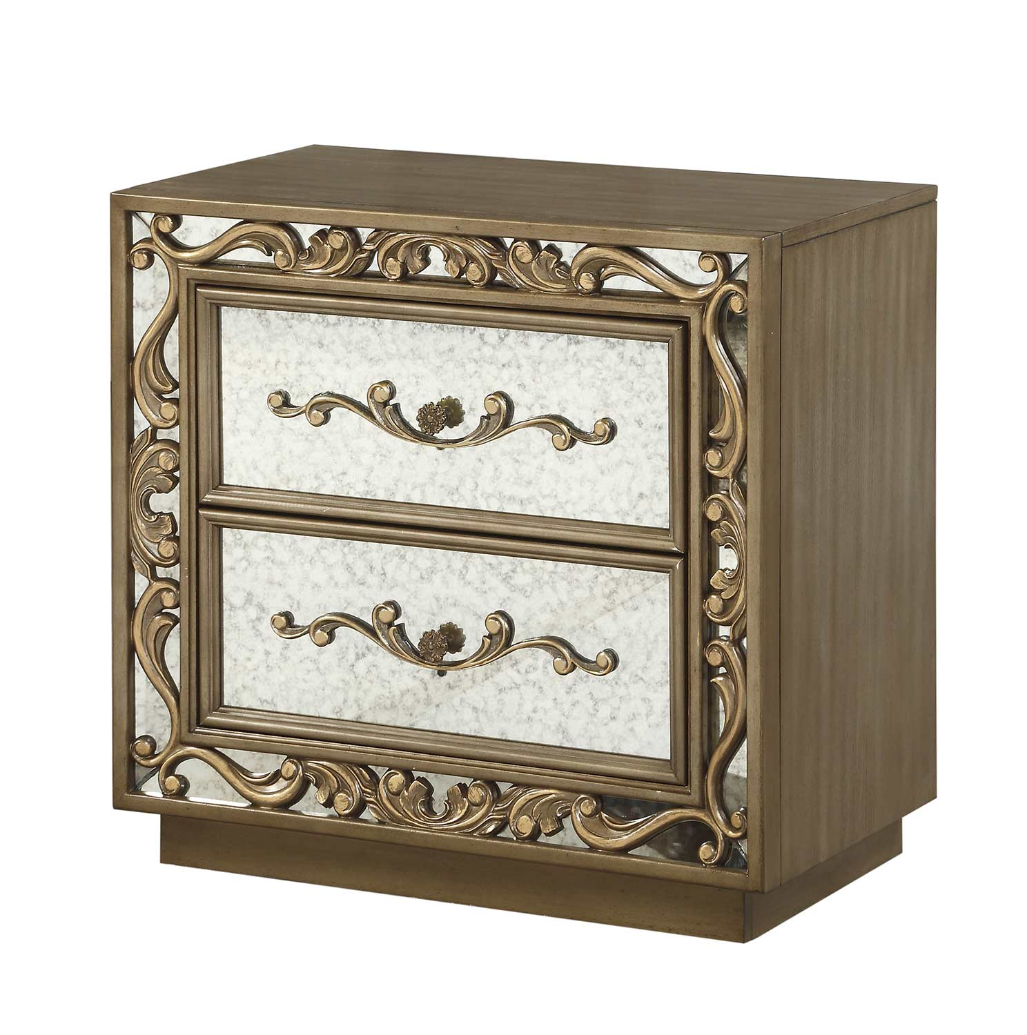 Acme Orianne Nightstand - Antique Gold