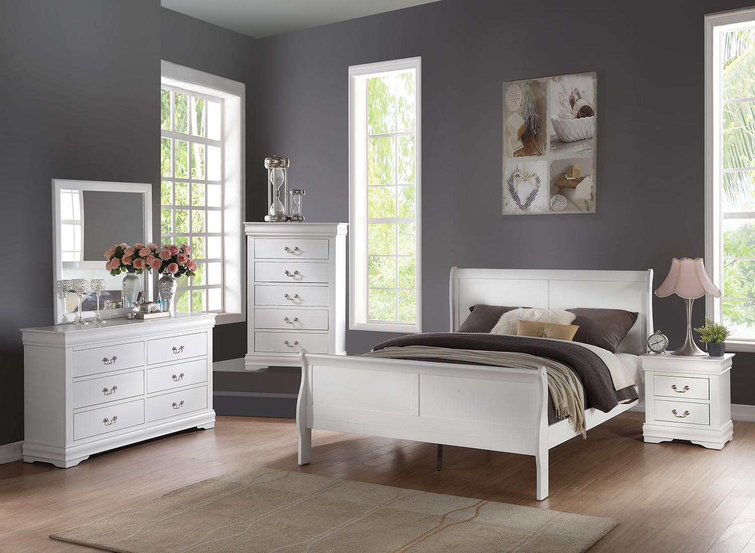 Acme Louis Philippe Bedroom Set - White