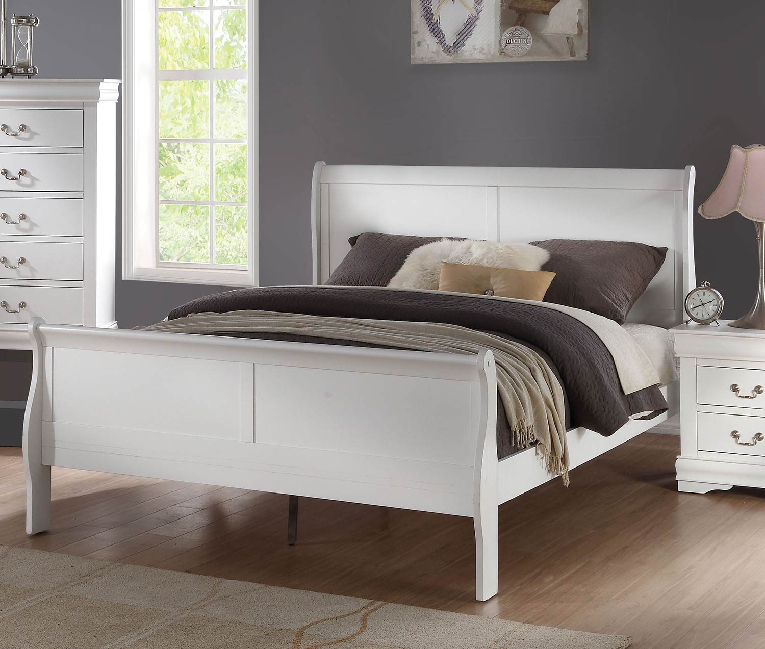 Acme Louis Philippe Bed - White