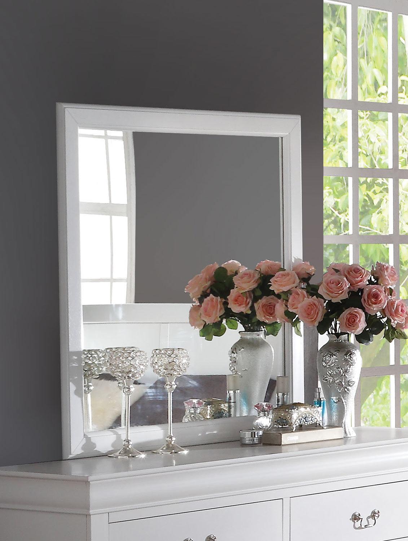 Acme Louis Philippe Mirror - White