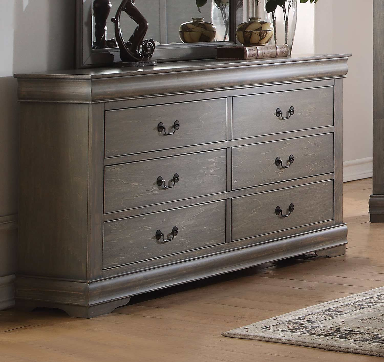Acme Louis Philippe Dresser - Antique Gray