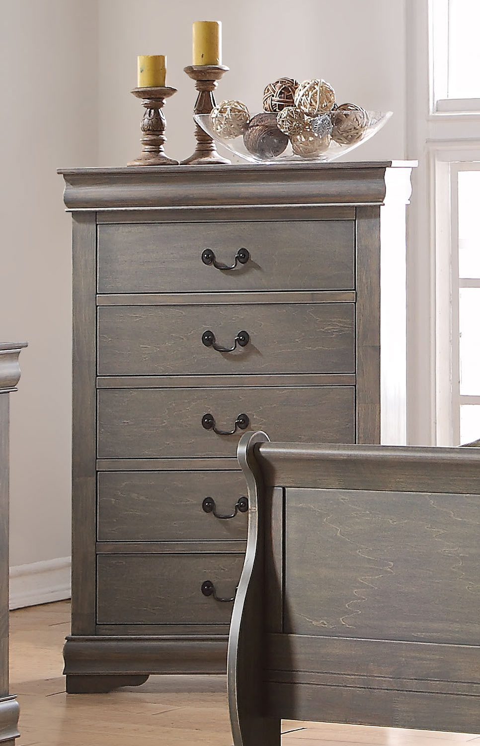 Acme Louis Philippe Chest - Antique Gray