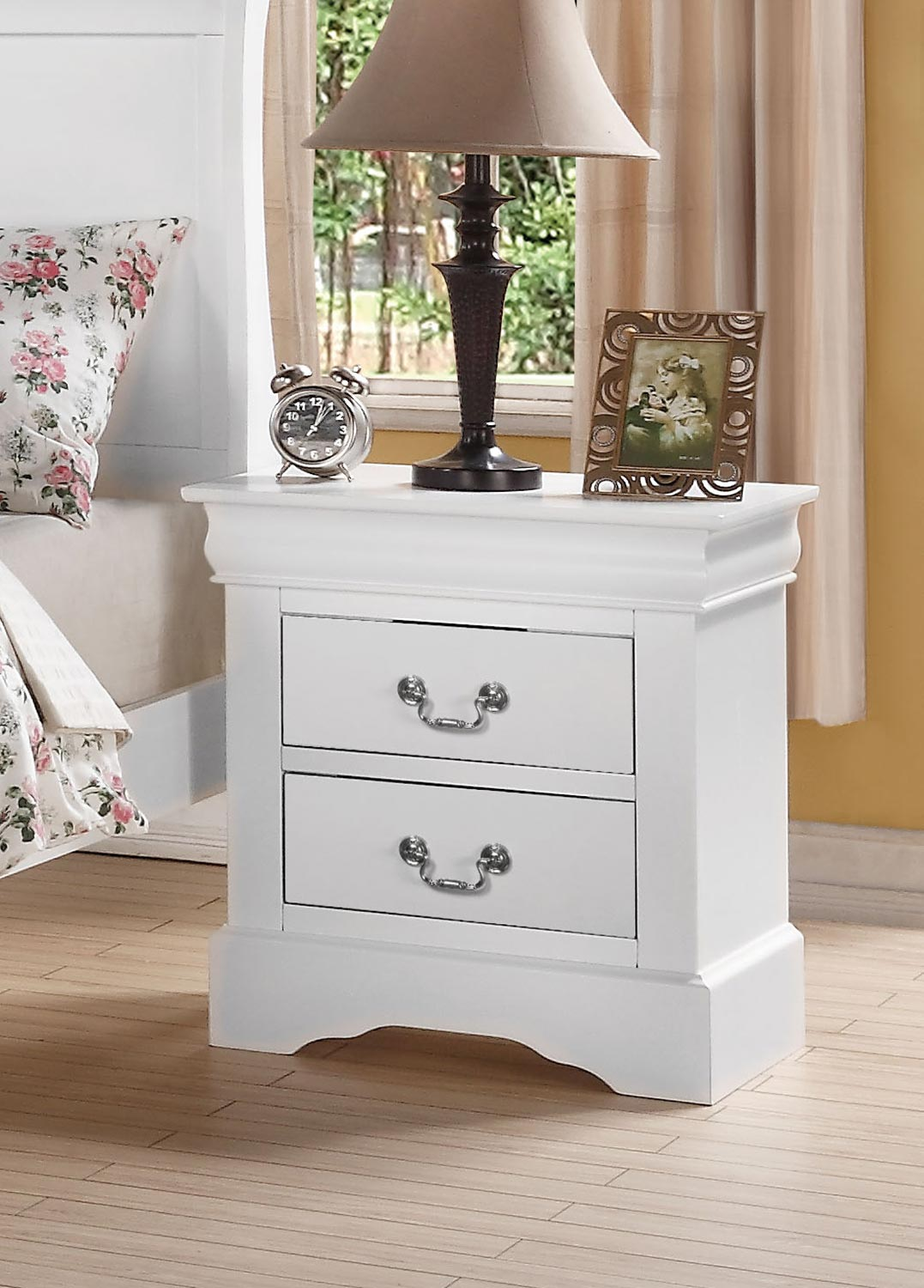 Acme Louis Philippe III Nightstand - White