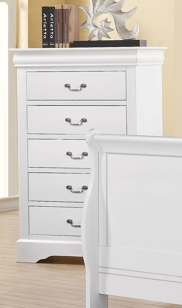 Acme Louis Philippe III Chest - White