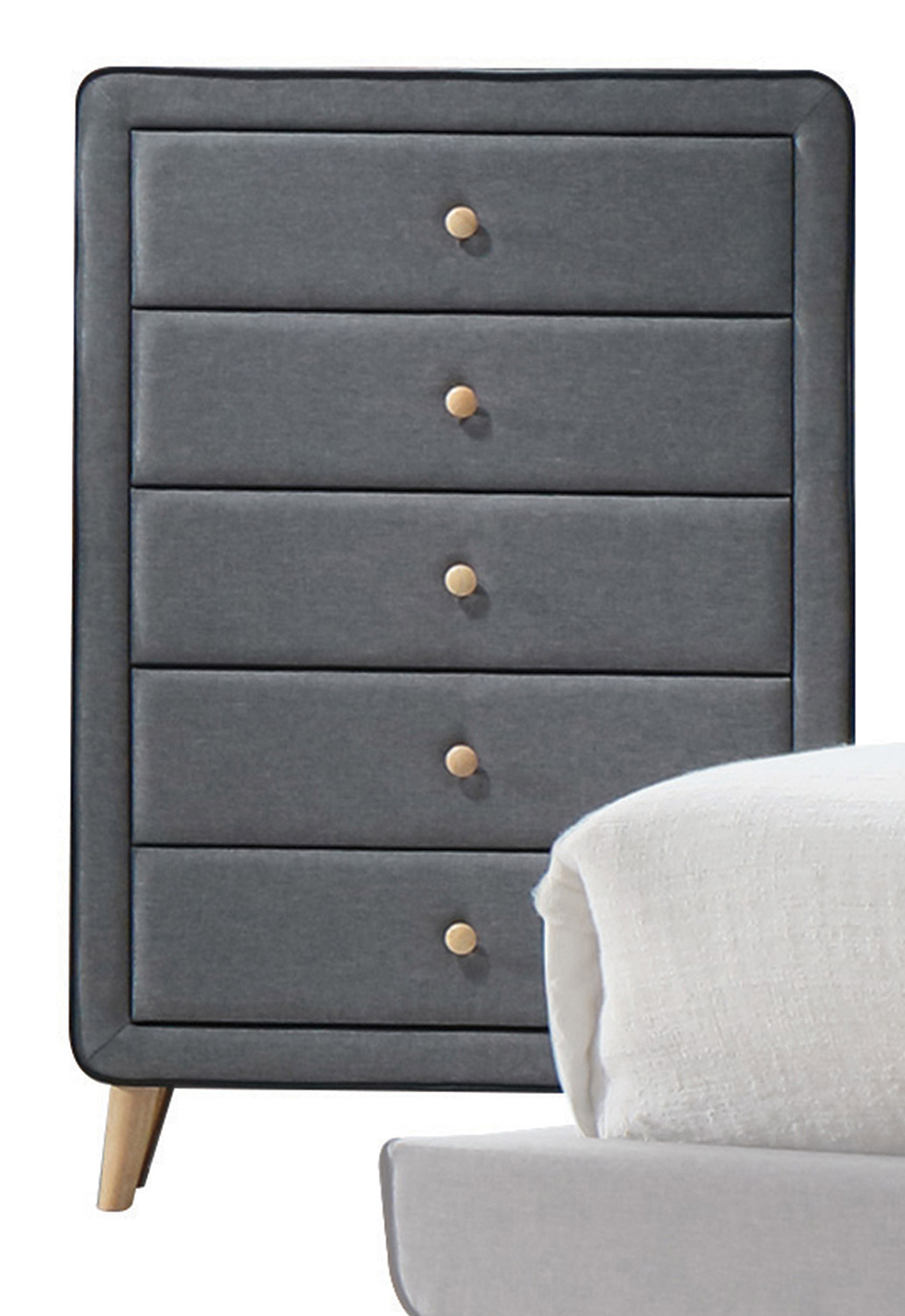Acme Valda Chest - Light Gray Fabric
