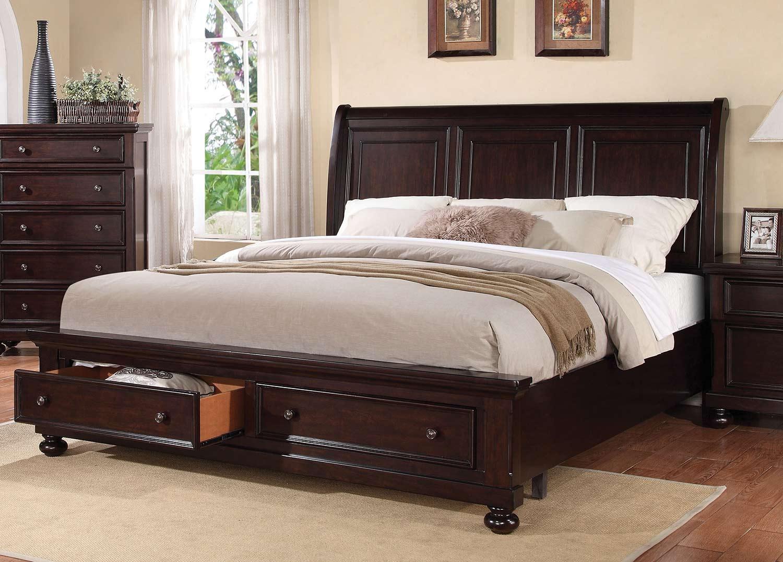 Acme Grayson Bed with Storage - Dark Walnut