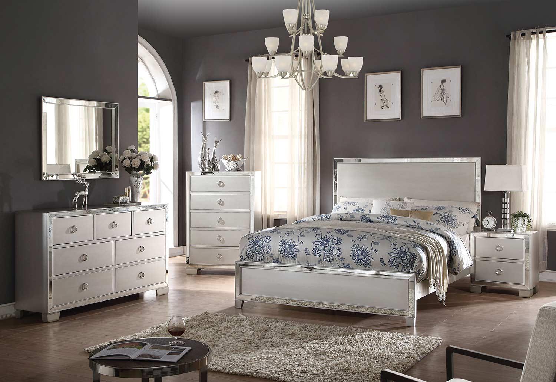 Acme Voeville II Bedroom Set - Platinum