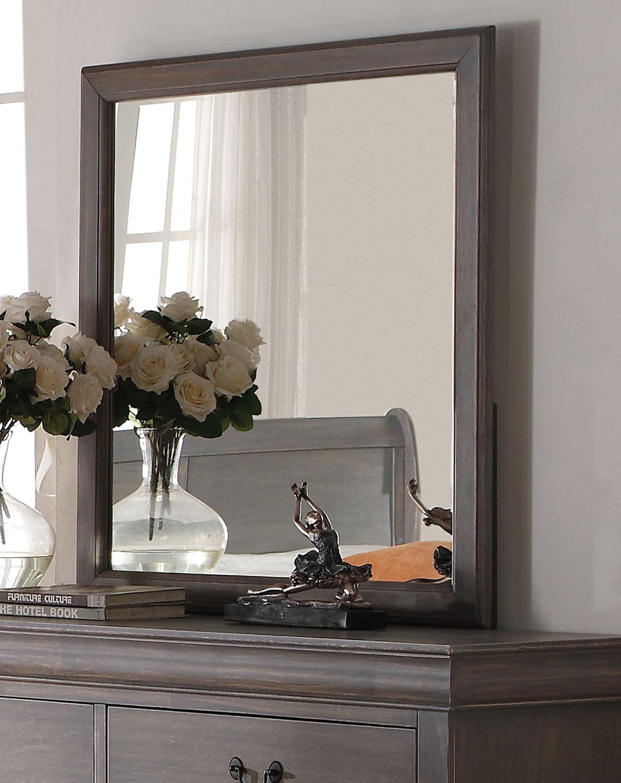 Acme Louis Philippe III Mirror - Antique Gray
