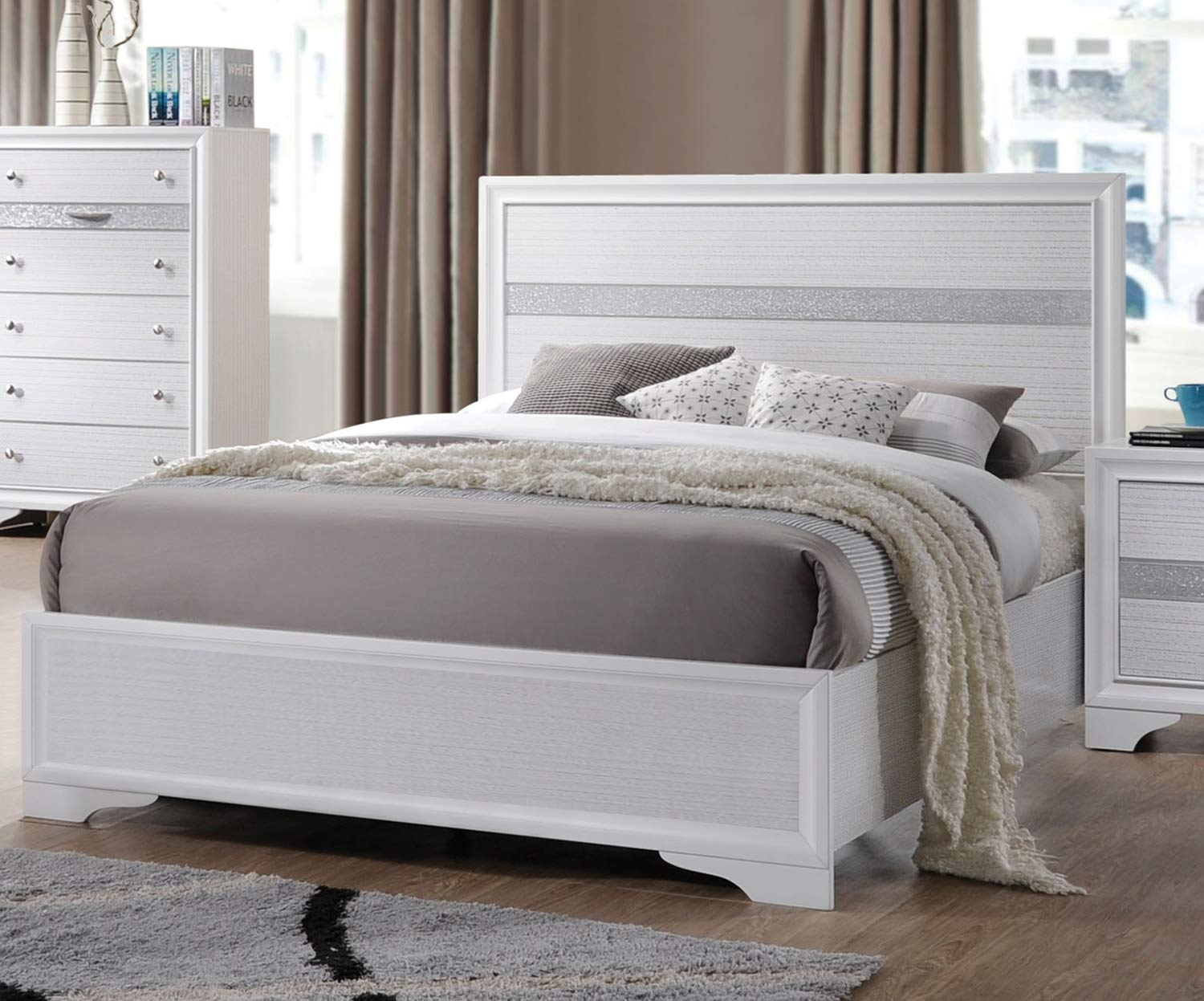 Acme Naima Bed Without Storage - White