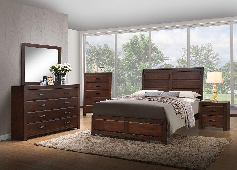Acme Oberreit Bedroom Set - Walnut
