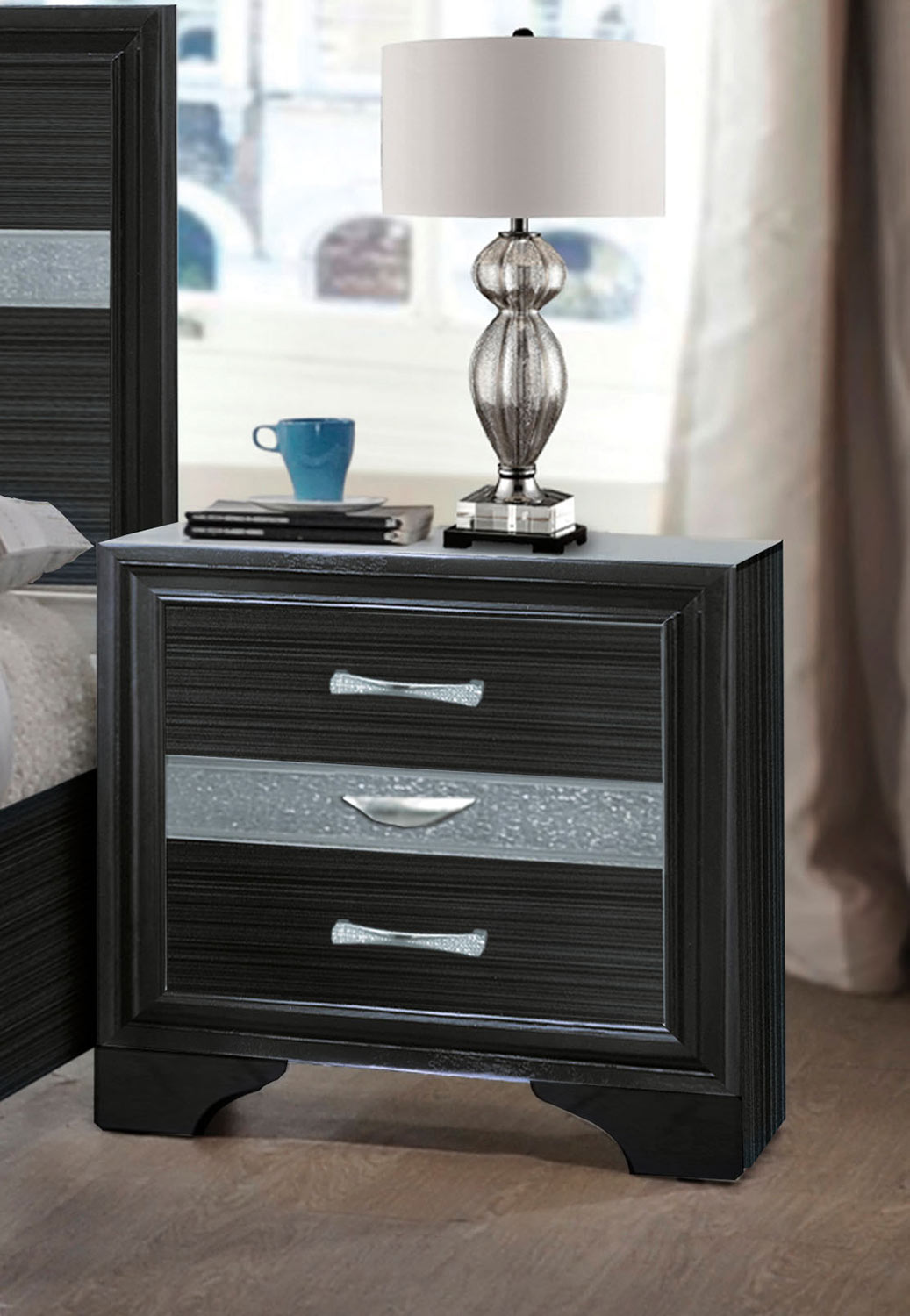 Acme Naima Nightstand - Black