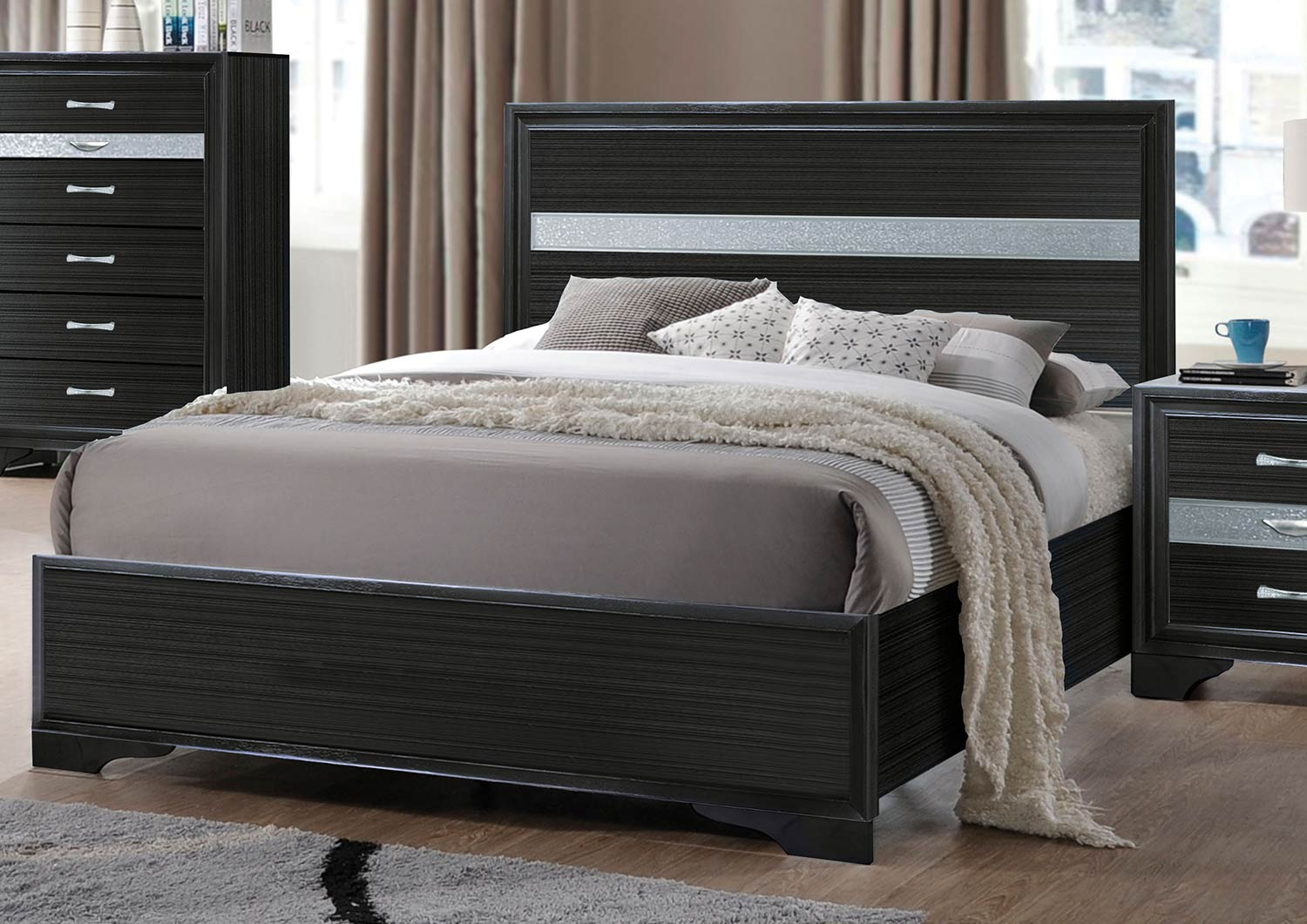 Acme Naima Bed Without Storage - Black