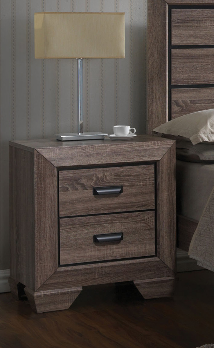 Acme Lyndon Nightstand - Weathered Gray Grain