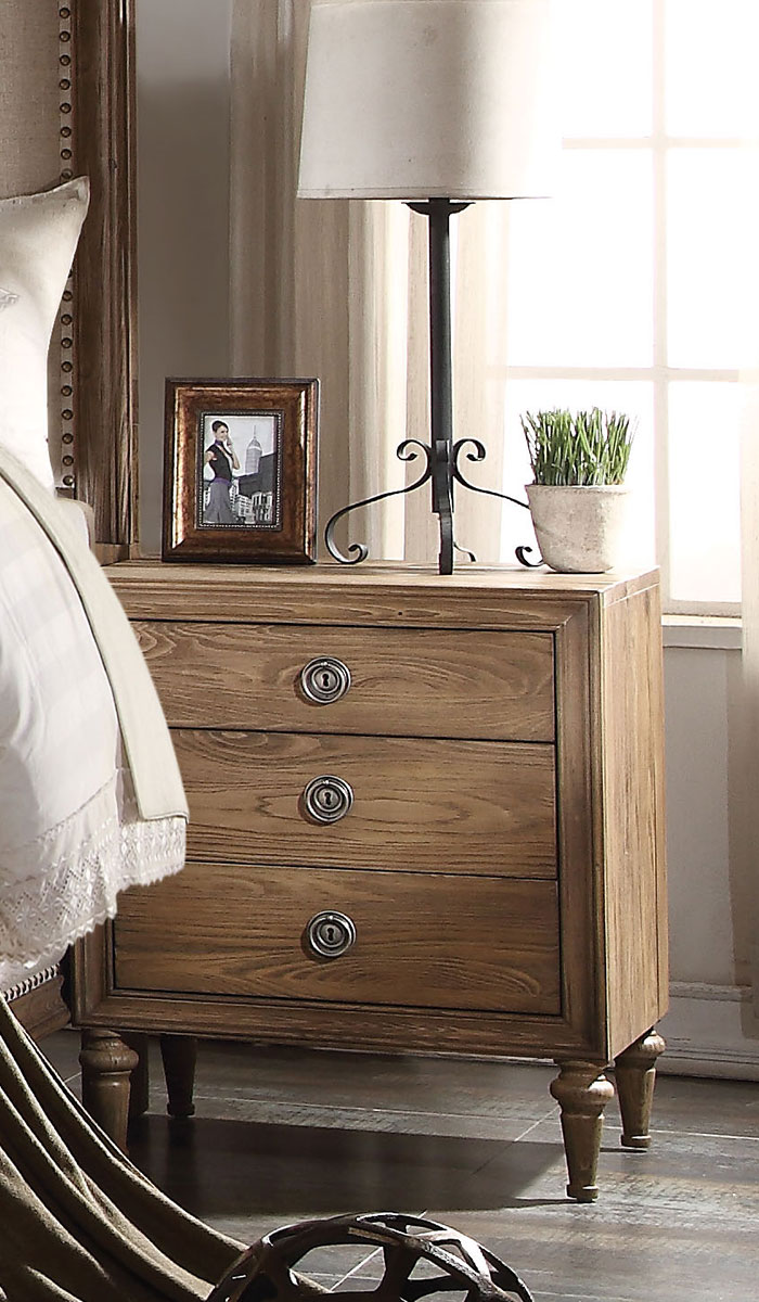 Acme Inverness (Parker) Nightstand - Reclaimed Oak