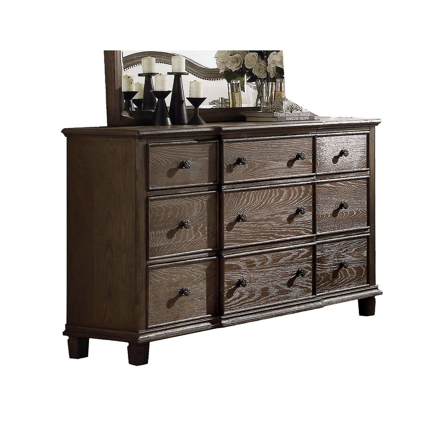Acme Baudouin Dresser - Weathered Oak