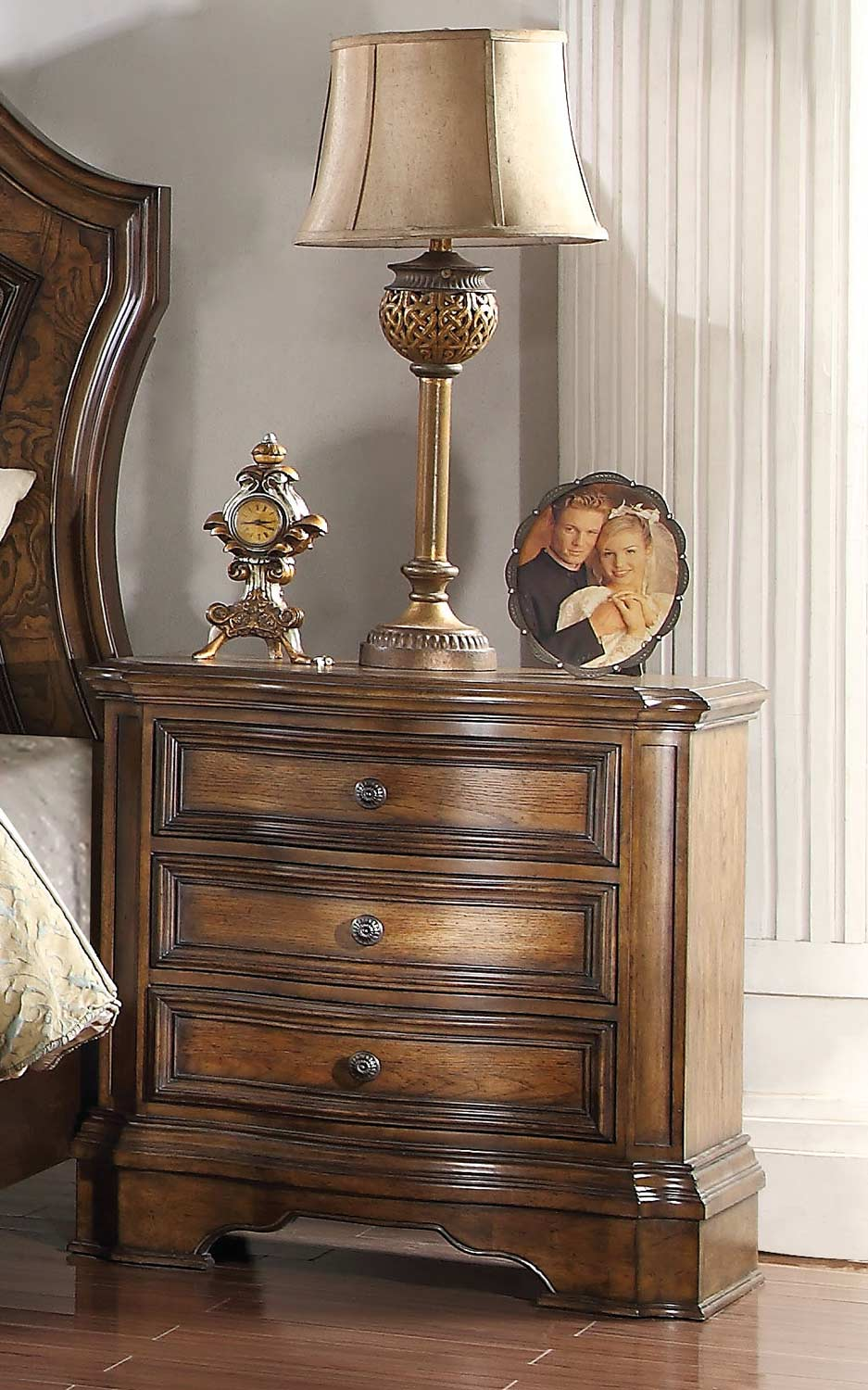 Acme Valletta Nightstand - Latte Oak
