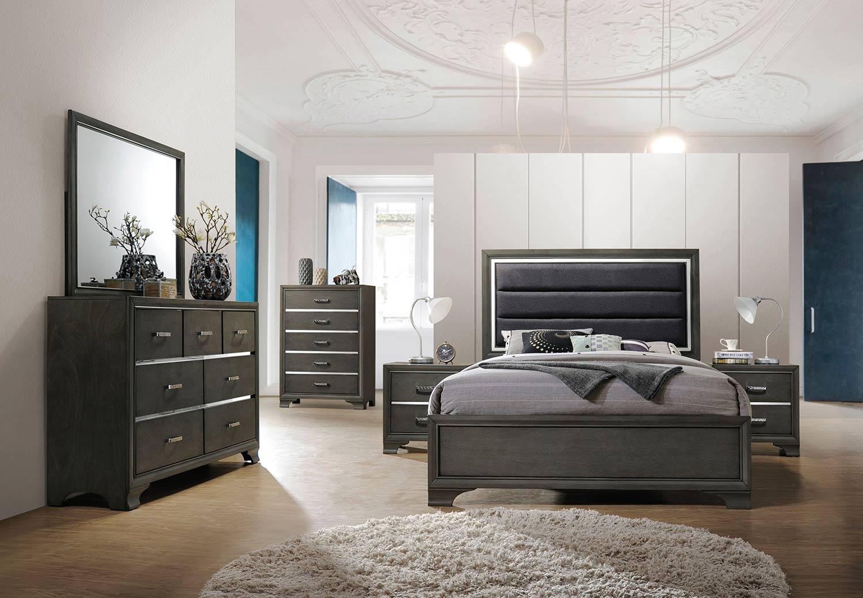 Acme Carine II Bedroom Set - Gray