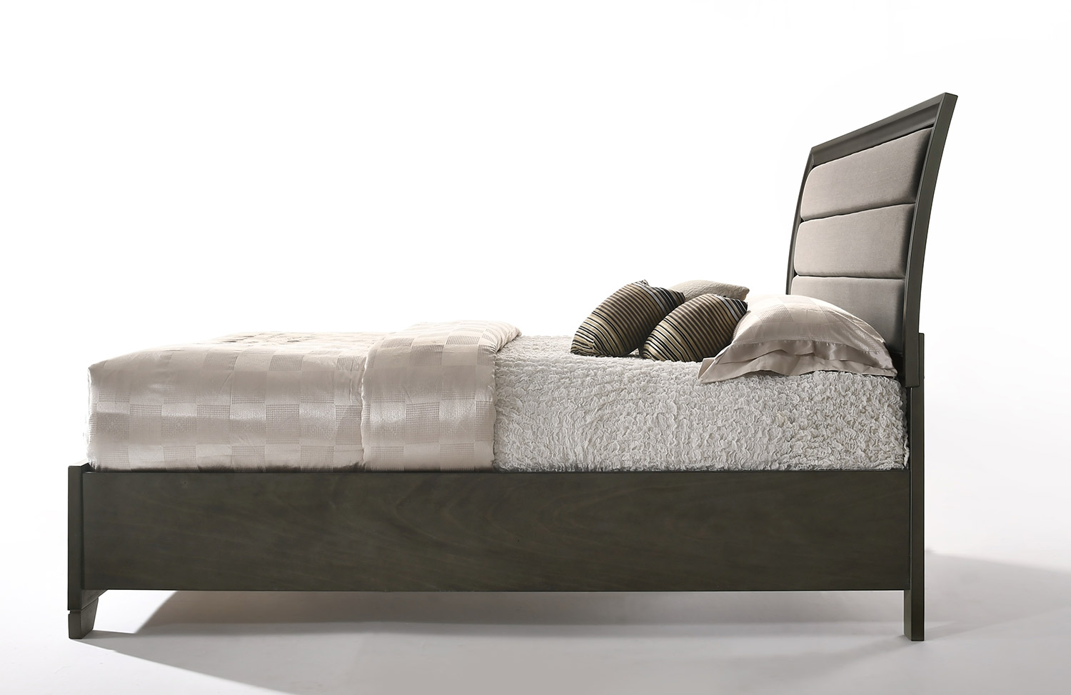 Acme Soteris Bed with Storage - Gray Fabric/Antique Gray