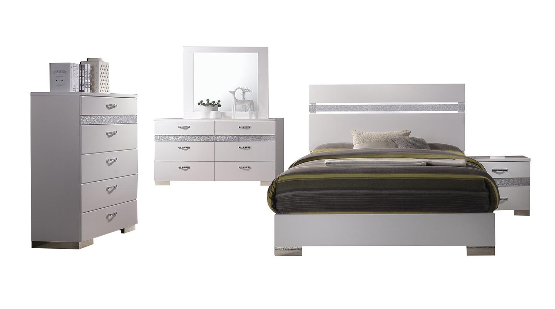 Acme Naima II Bedroom Set - White(High Gloss)