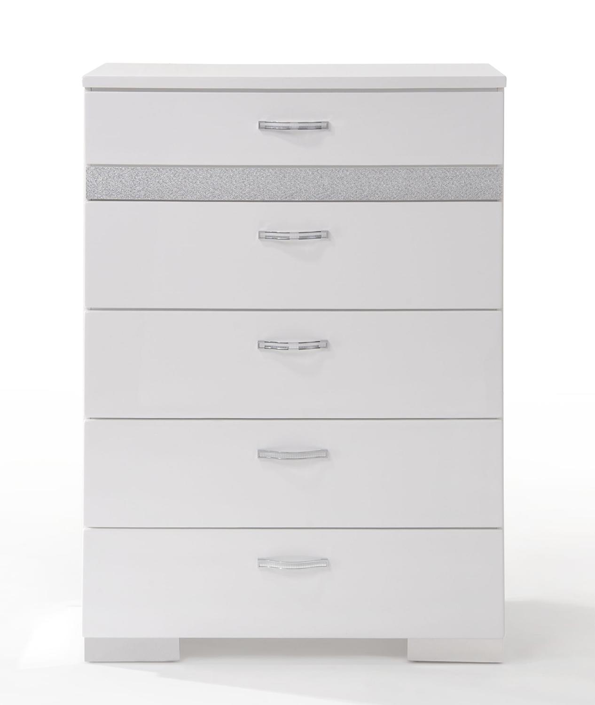 Acme Naima II Chest - White (High Gloss)
