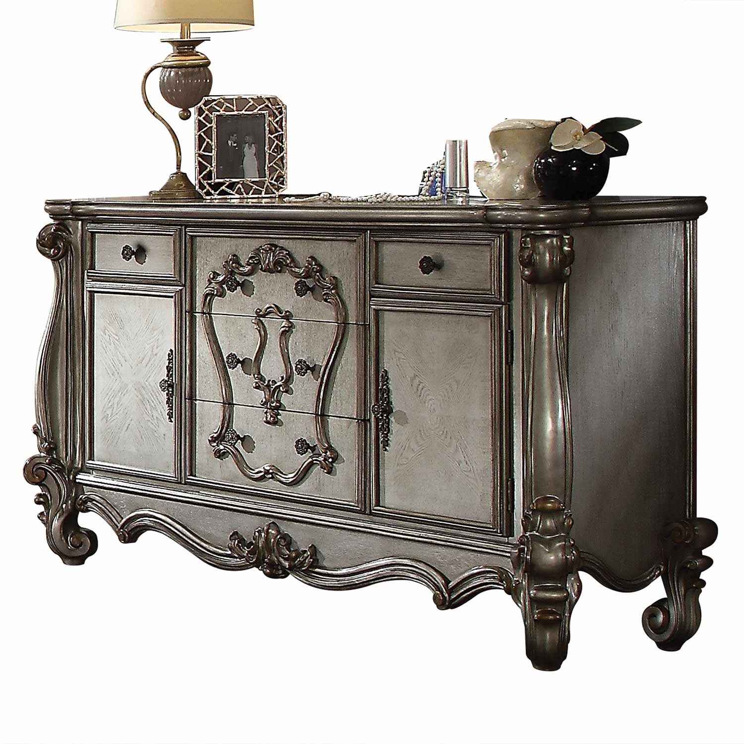 Acme Versailles Dresser - Antique Platinum