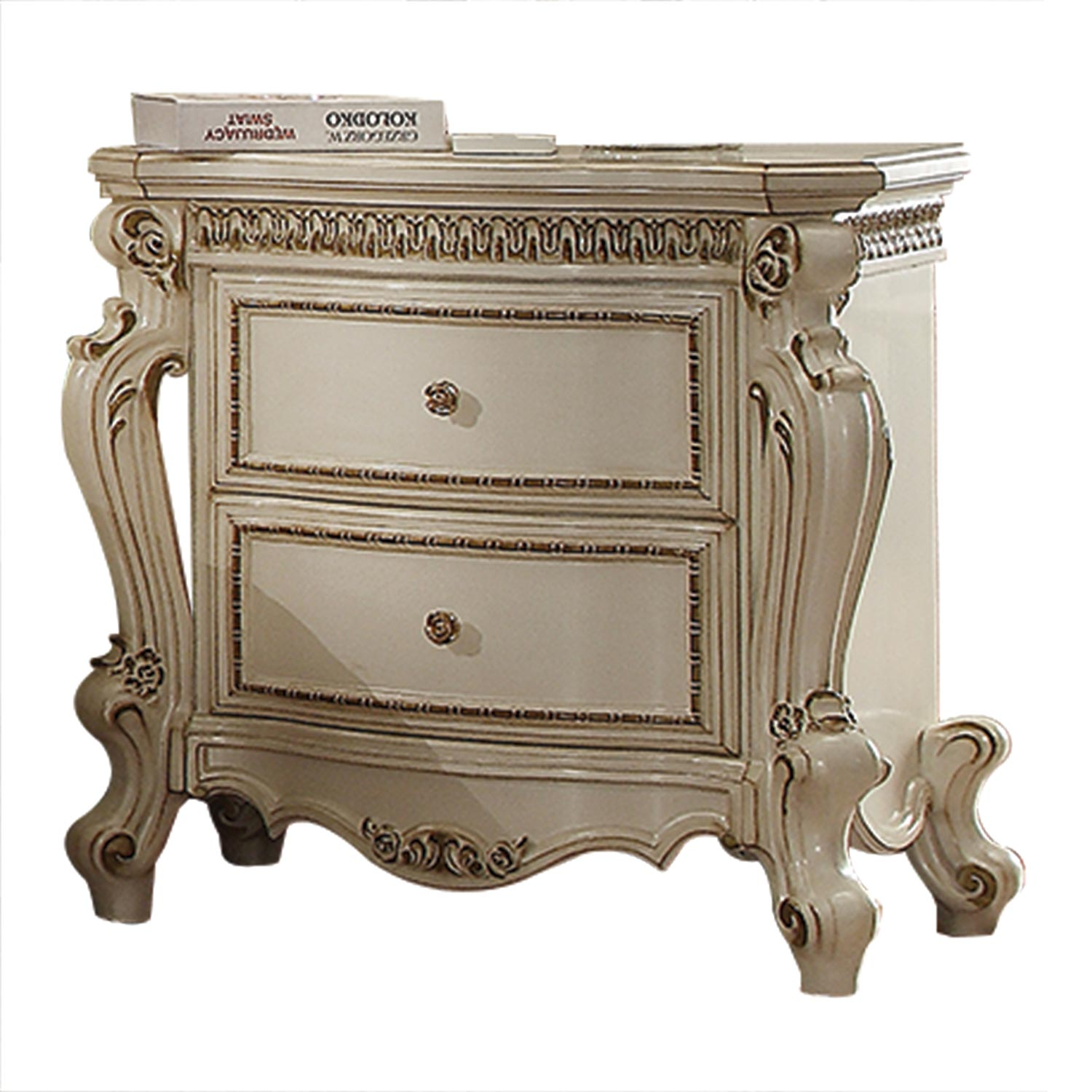 Acme Picardy Nightstand - Antique Pearl