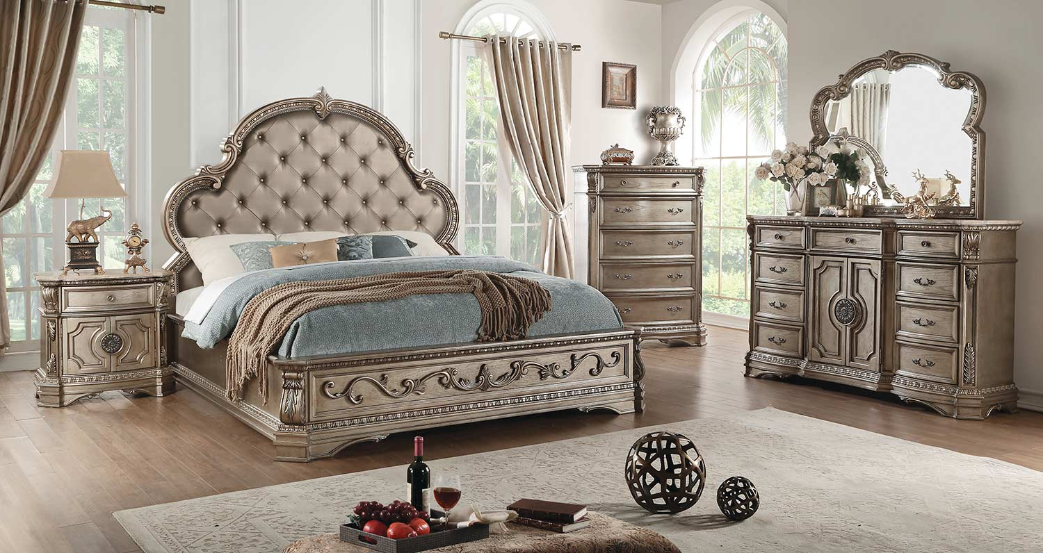 Acme Northville Bedroom Set - Antique Champagne