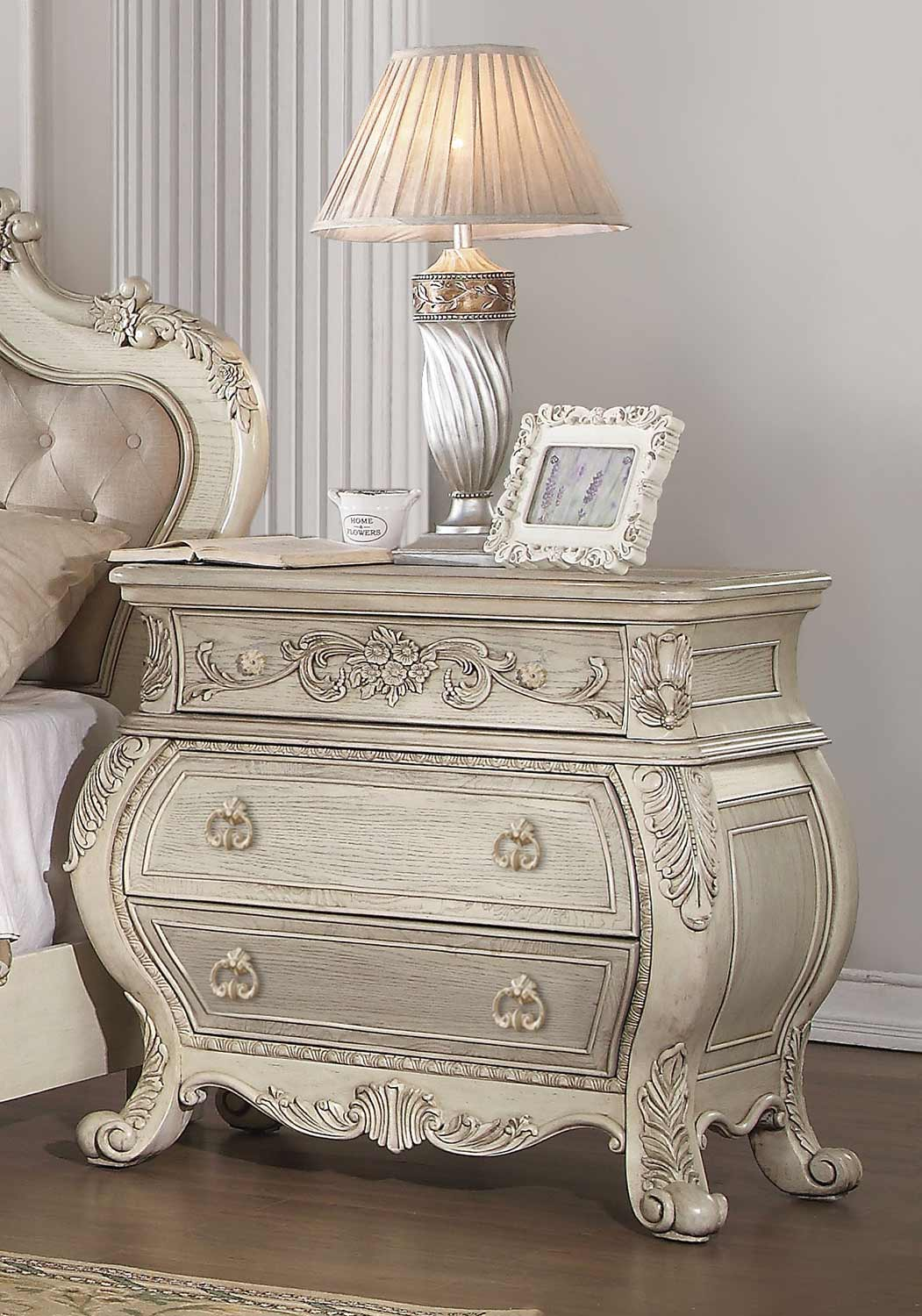 Acme Ragenardus Nightstand - Antique White