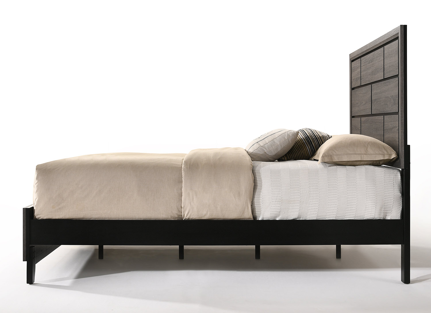 Acme Valdemar Bed - Weathered Gray