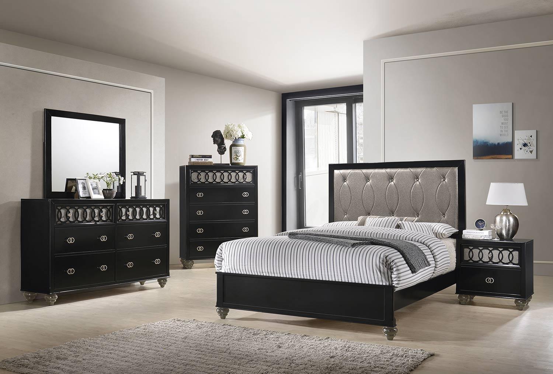 Acme Ulrik Bedroom Set - Copper/Black