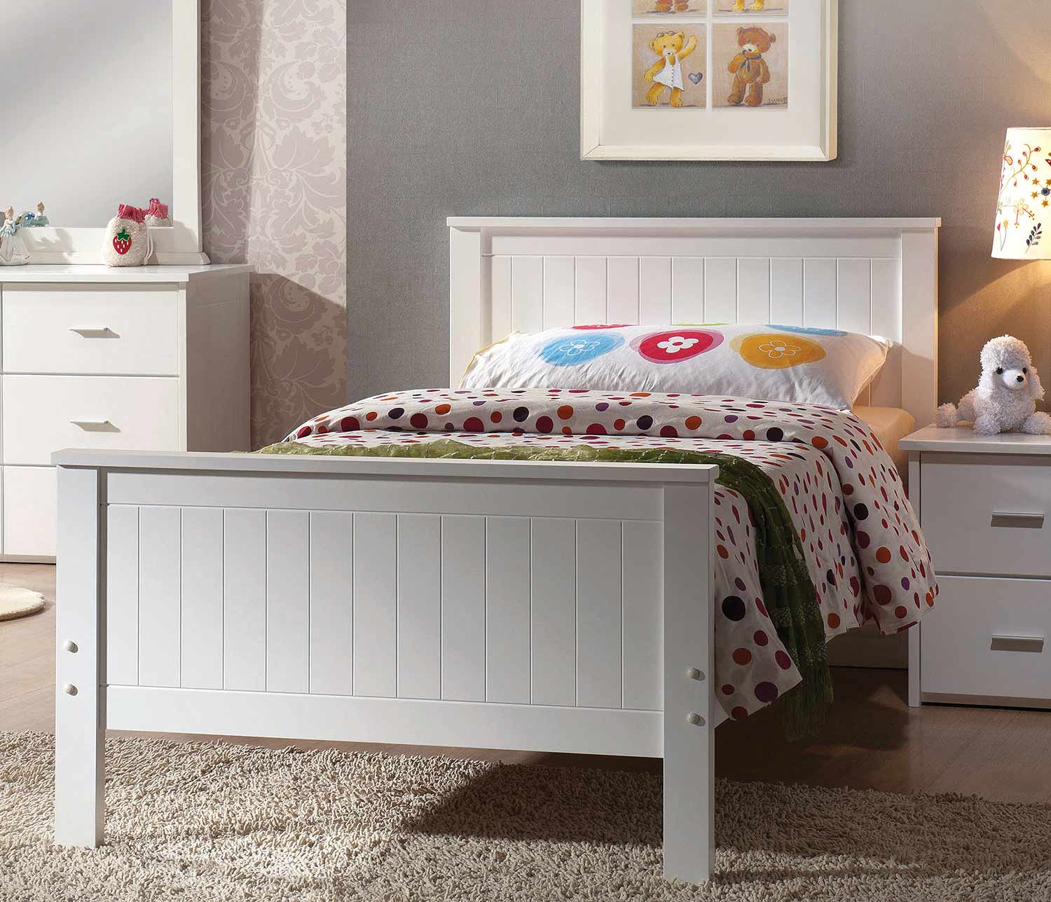 Acme Bungalow Bed - White
