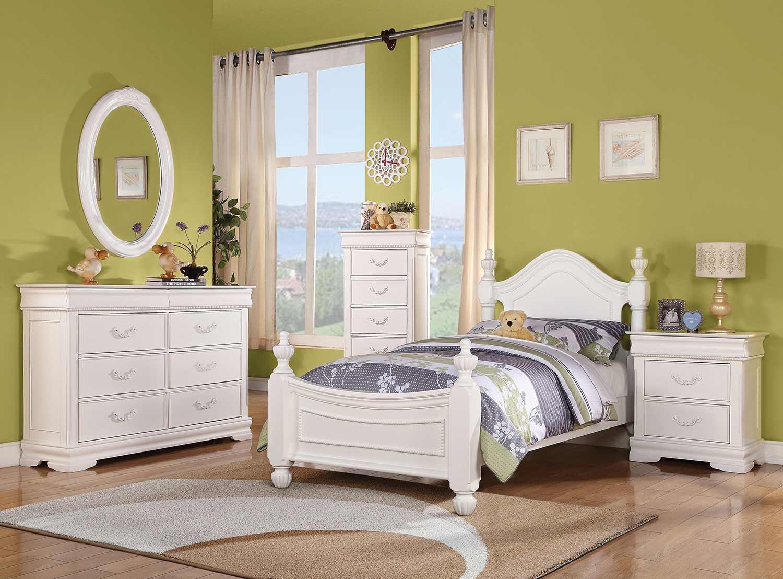 Acme Classique Bedroom Set - White