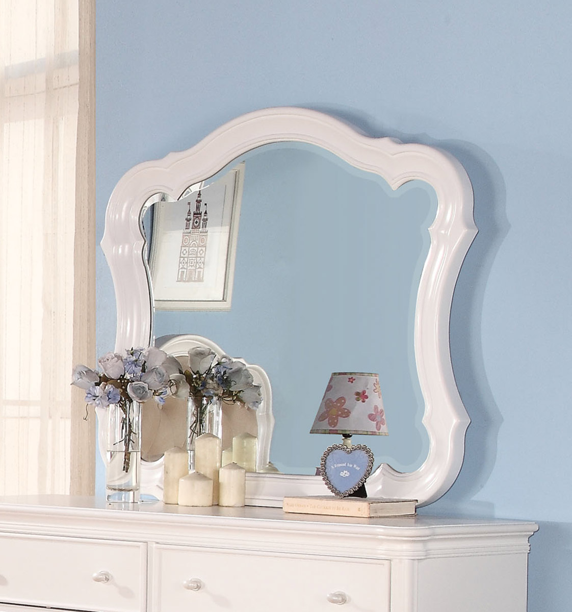 Acme Ira Mirror - White
