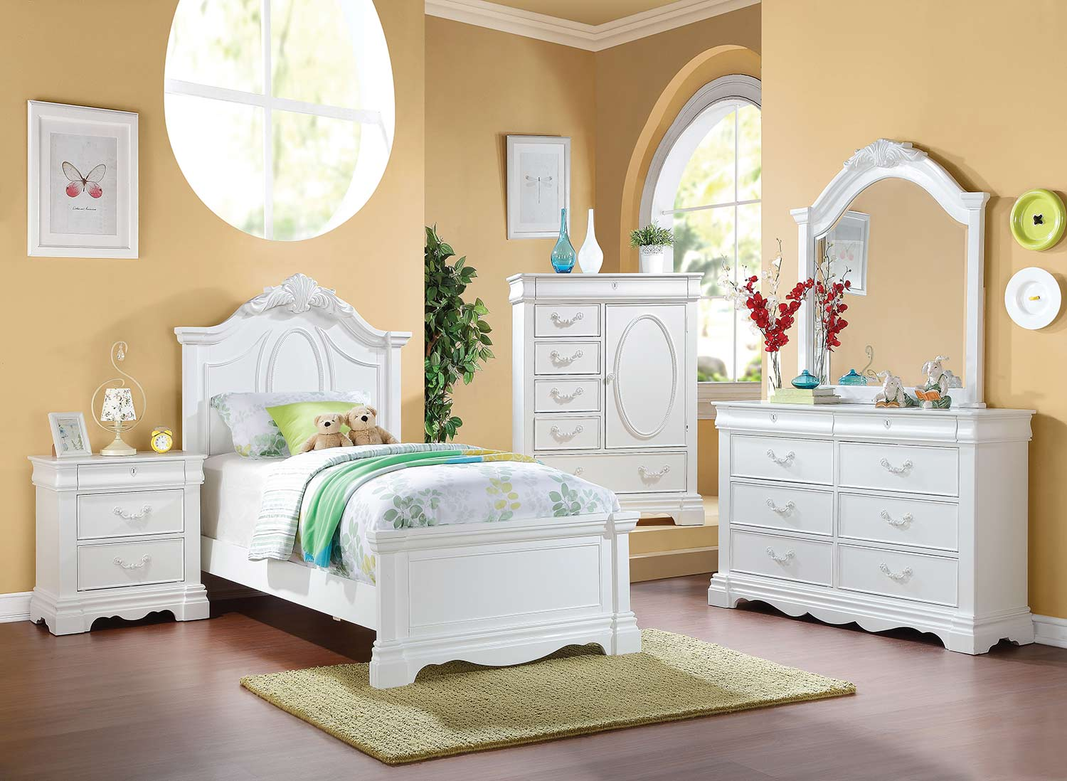 Acme Estrella Bedroom Set - White