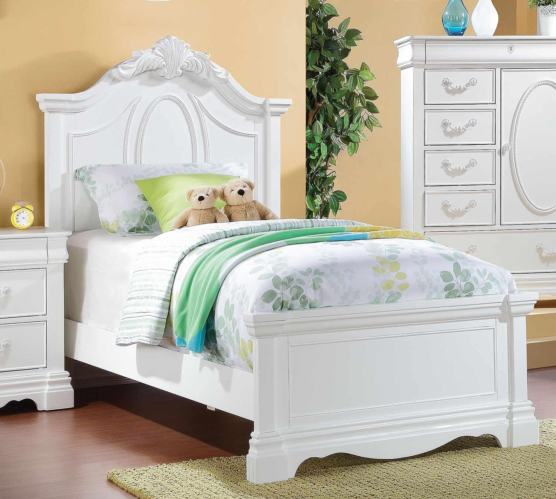 Acme Estrella Bed - White