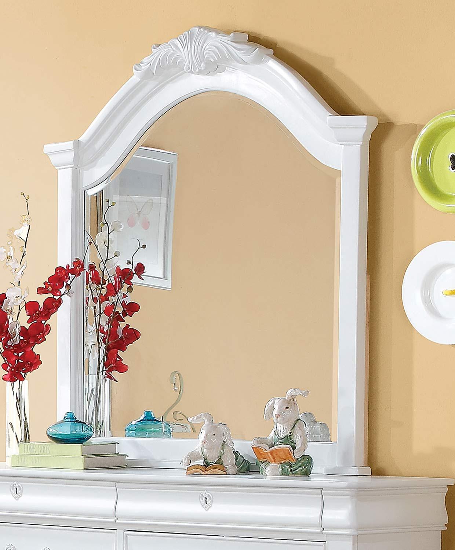 Acme Estrella Mirror - White