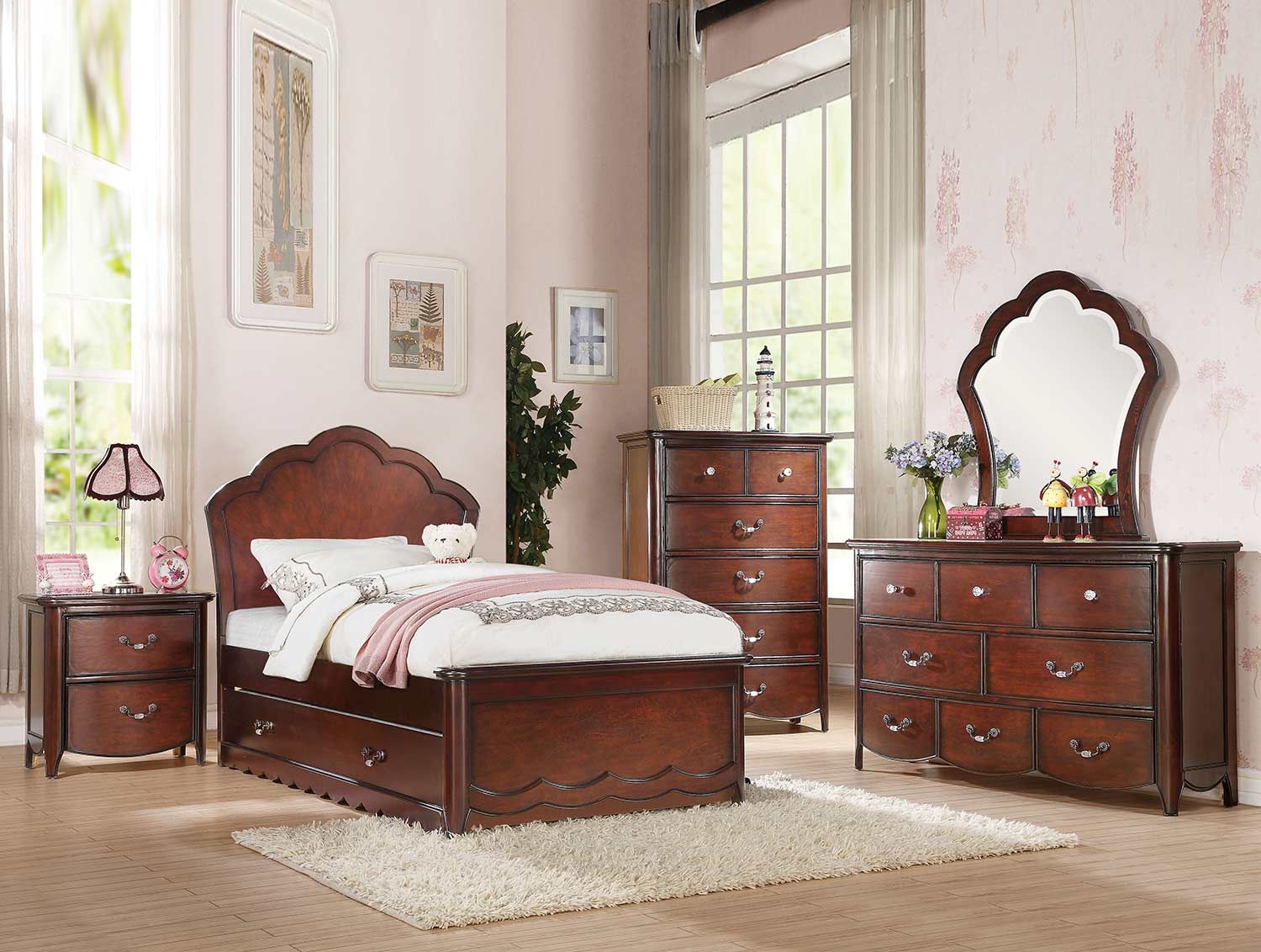 Acme Cecilie Bedroom Set - Cherry