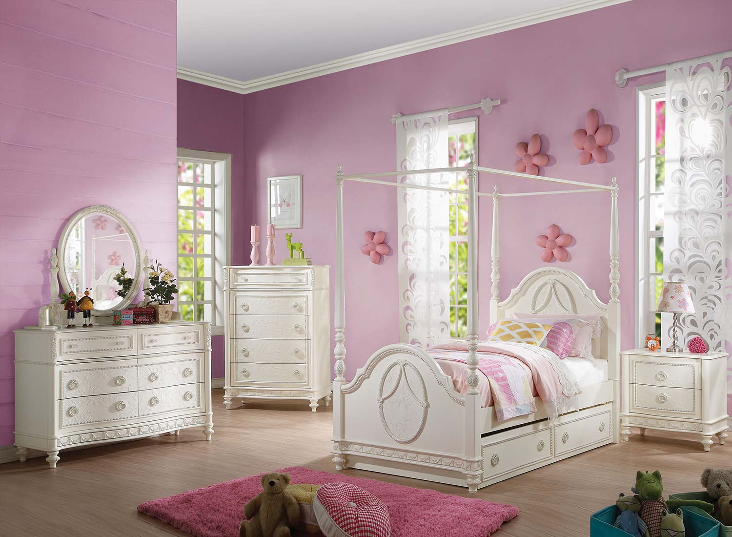Acme Dorothy Bedroom Set - Ivory