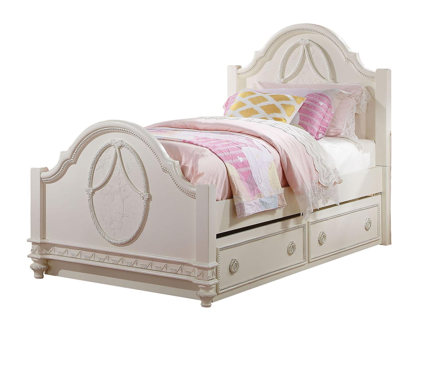 Acme Dorothy Bed - Ivory