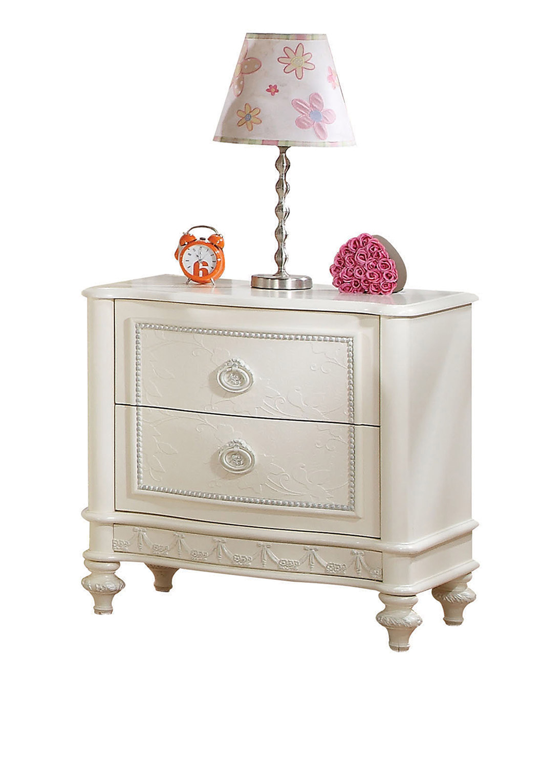 Acme Dorothy Nightstand with 2 Drawer - Ivory