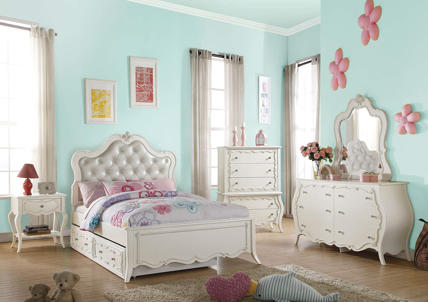 Acme Edalene Bedroom Set - Pearl White