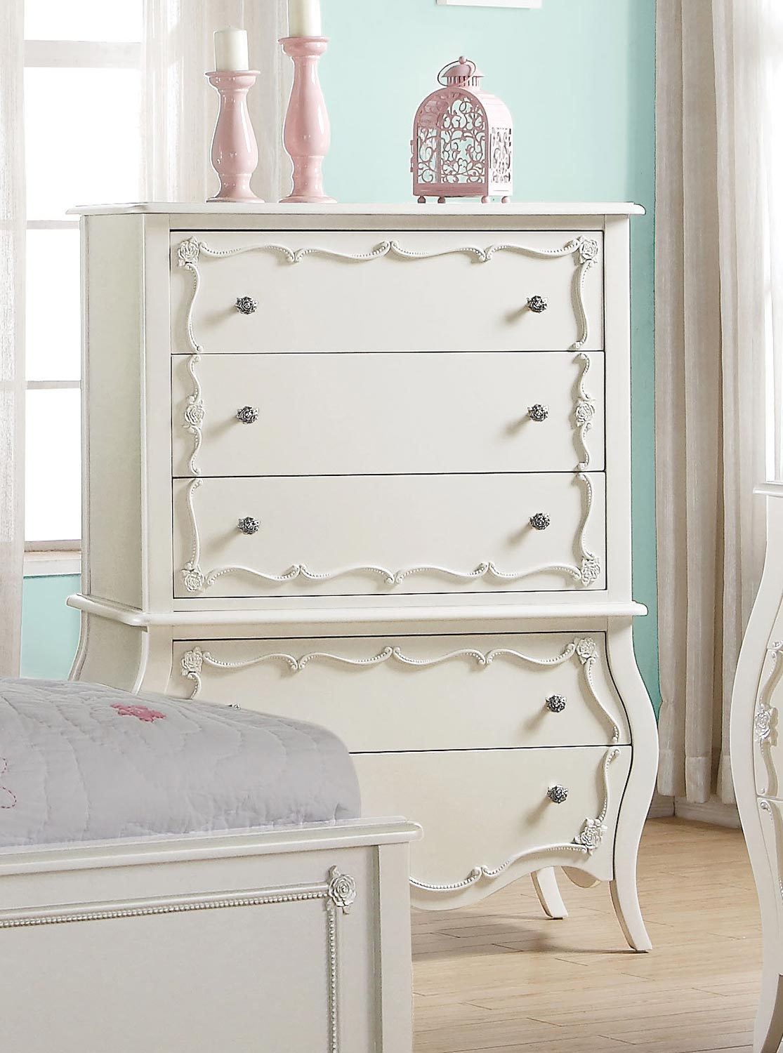 Acme Edalene Chest - Pearl White